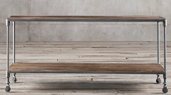 Expensive Industrial Farmhouse Console Table