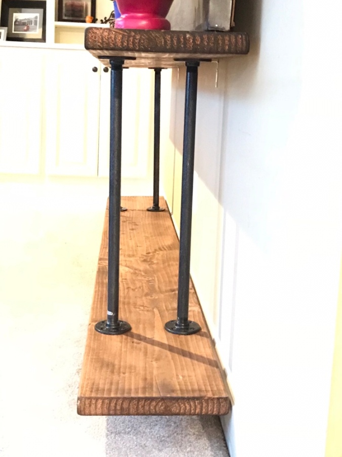 DIY Industrial Farmhouse Console Table