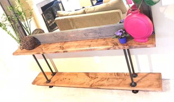 Industrial Console Table DIY